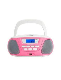 RADIO CD AIWA BOOMBOX BBTU-300PK ROSA BLUETOOTH/CD/USB/MP3/