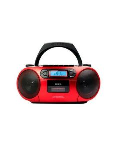 RADIO CD-CASETE AIWA BOOMBOX BBTC-550MG ROJO CASETE/CD/USB/